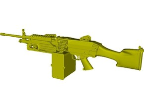 1/15 scale FN Fabrique Nationale Mk 48 x 1 in Smooth Fine Detail Plastic