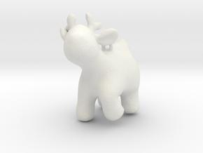 Cartoon deer keychain 2 in White Natural Versatile Plastic