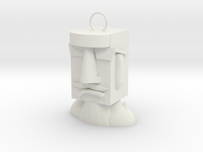 Easter Island Stone Statue (cool)  in White Natural Versatile Plastic