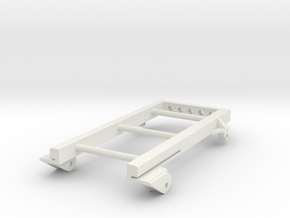 Extended Rear Leaf Spring Frame/Mount in White Natural Versatile Plastic