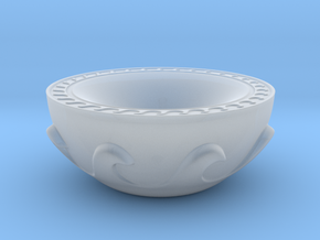Meander Bowl in Smooth Fine Detail Plastic