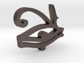 I3D EYE OF HORUS in Polished Bronzed Silver Steel