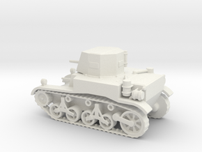 1/72 Scale M1A1 Light Tank in White Natural Versatile Plastic