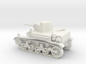 1/72 Scale M2A4 Light Tank in White Natural Versatile Plastic