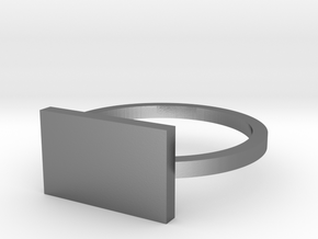 Rectangle 12.37mm in Polished Silver