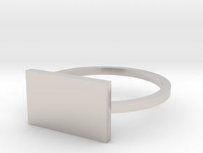 Rectangle 14.36mm in Rhodium Plated Brass