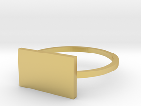 Rectangle 16.00mm in Polished Brass