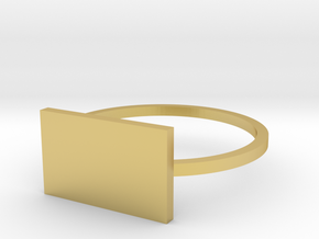 Rectangle 16.92mm in Polished Brass