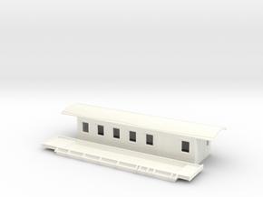 CF4a - Swedish passenger wagon in White Processed Versatile Plastic