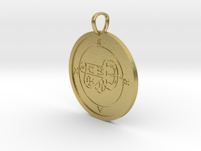 Shax Medallion in Natural Brass