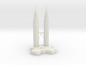 Petronas Towers in White Natural Versatile Plastic