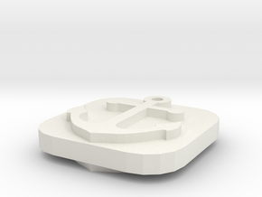 Naval Base Token in White Natural Versatile Plastic