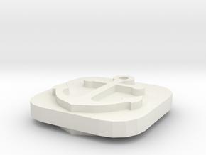 Naval Base Token in White Natural Versatile Plastic