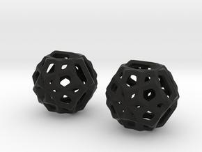 Snowflake in Black Natural Versatile Plastic