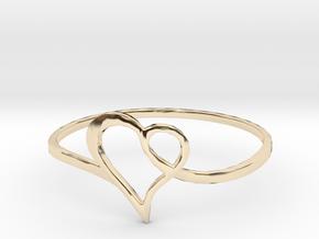 Minimalist Heart Ring in 14K Yellow Gold: 7 / 54