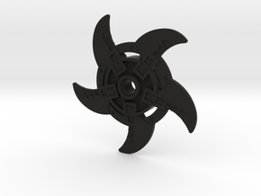 Bootleg Whirling Blades in Black Natural Versatile Plastic
