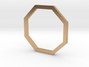 Octagon 12.37mm in Polished Bronze