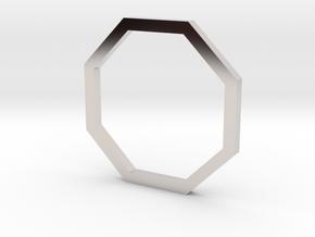 Octagon 12.37mm in Rhodium Plated Brass