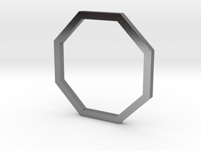 Octagon 13.21mm in Polished Silver