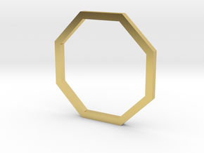 Octagon 13.61mm in Polished Brass
