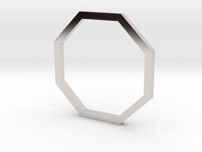 Octagon 13.61mm in Rhodium Plated Brass