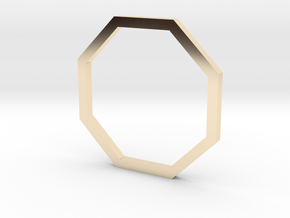 Octagon 13.61mm in 14K Yellow Gold