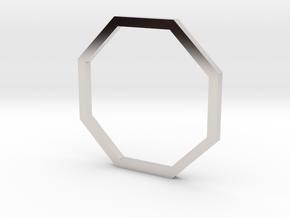 Octagon 14.56mm in Rhodium Plated Brass