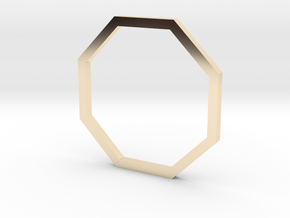 Octagon 14.86mm in 14k Gold Plated Brass