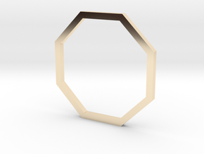 Octagon 15.27mm in 14K Yellow Gold