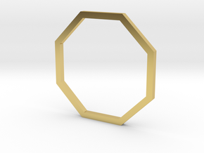 Octagon 15.70mm in Polished Brass
