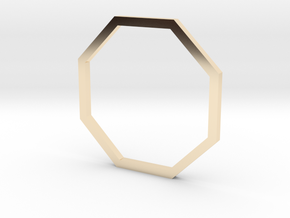 Octagon 16.00mm in 14k Gold Plated Brass