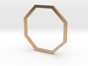 Octagon 16.30mm in Polished Bronze