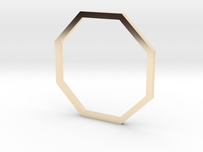 Octagon 16.92mm in 14k Gold Plated Brass