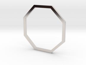Octagon 17.35mm in Rhodium Plated Brass