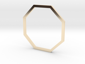 Octagon 18.19mm in 14k Gold Plated Brass