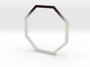 Octagon 18.89mm in Rhodium Plated Brass