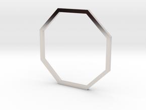 Octagon 19.84mm in Rhodium Plated Brass