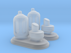 6mm Scale Small Chemical Stores - Pair in Smooth Fine Detail Plastic