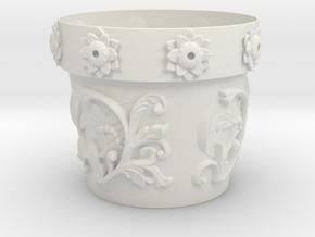 Planter (downloadable) in White Natural Versatile Plastic