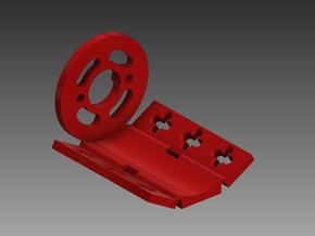 360 380 385 400 Motor Mount in Red Processed Versatile Plastic