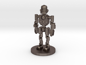 Robot Explorer (28mm Scale Miniature) in Polished Bronzed-Silver Steel