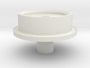 Cox Bug-Buggy Rear Wheel Inner Hub in White Natural Versatile Plastic