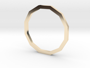 Dodecagon 13.61mm in 14K Yellow Gold