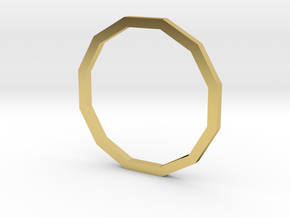 Dodecagon 14.36mm in Polished Brass