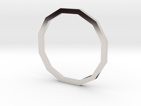 Dodecagon 14.36mm in Rhodium Plated Brass