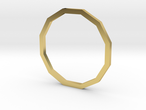 Dodecagon 15.27mm in Polished Brass