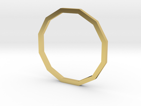 Dodecagon 16.00mm in Polished Brass