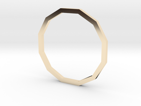 Dodecagon 16.00mm in 14K Yellow Gold