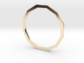 Dodecagon 16.30mm in 14K Yellow Gold