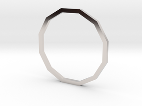 Dodecagon 17.35mm in Rhodium Plated Brass